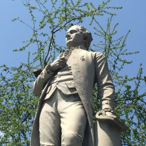 Statue of Alexander Hamilton in Central Park